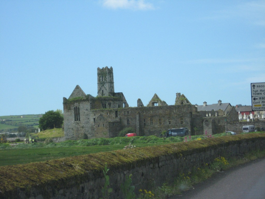 Arriving at Timoleague; view of the Friary