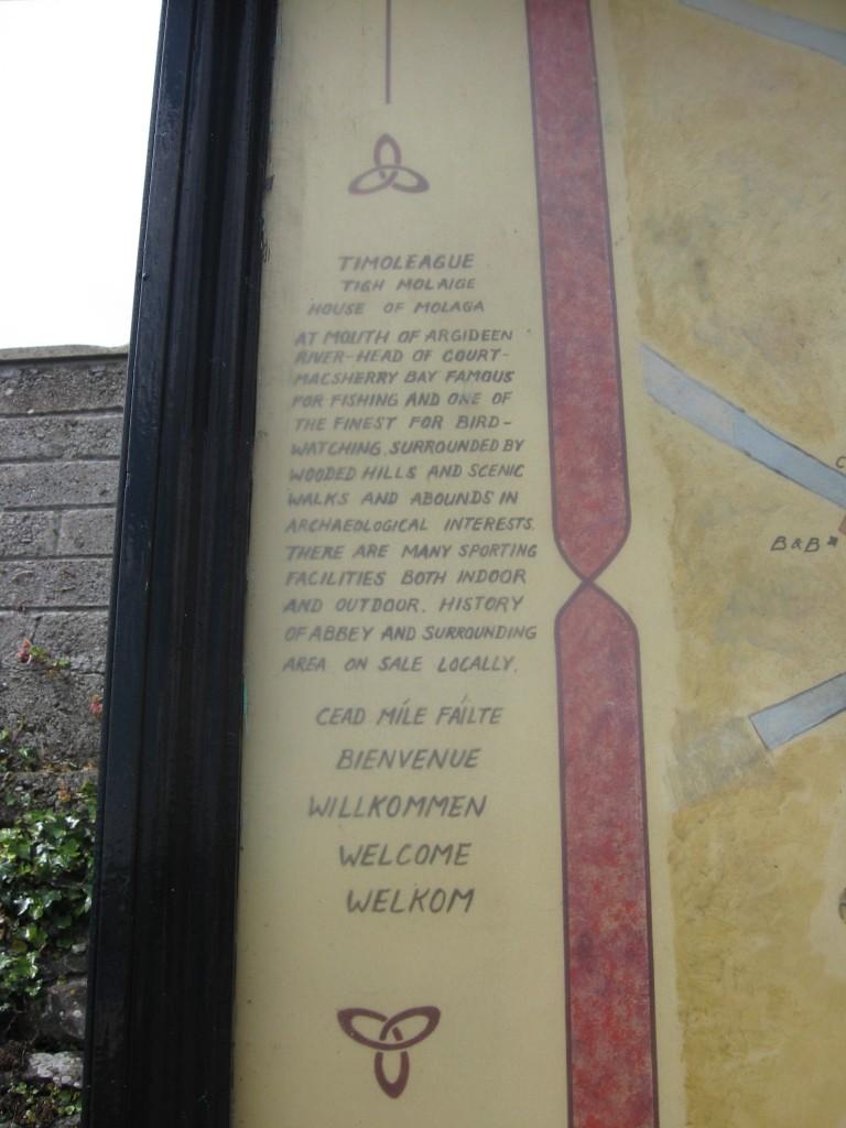 Timoleague Map Board