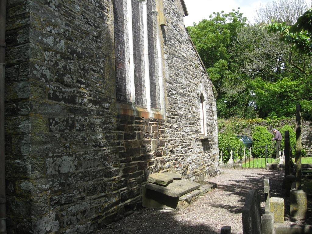 Noting the Travers' markers, rear of Timoleague Anglican Church