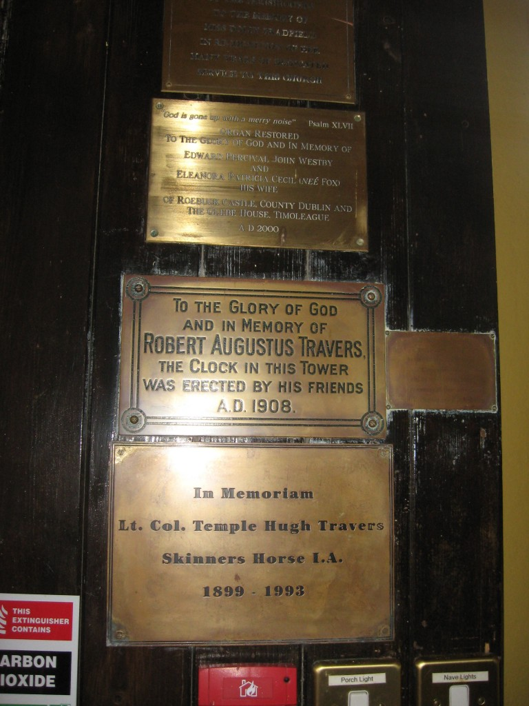 Plaques in the vestibule, Anglican Church of the Ascension, Timoleague