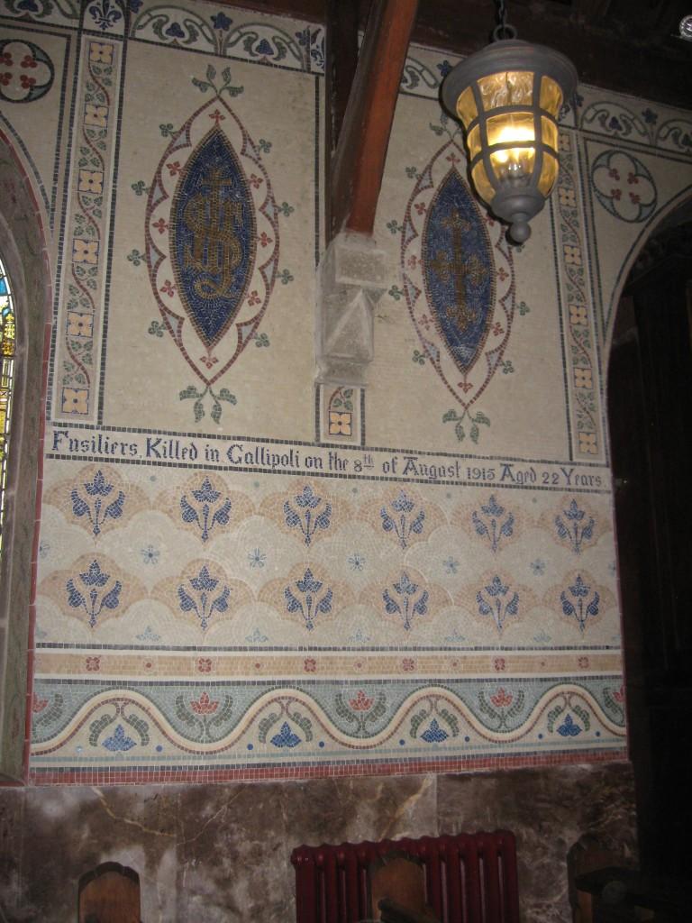 Memorial in mosaic, Interior, Anglican Church of the Ascension, Timoleague