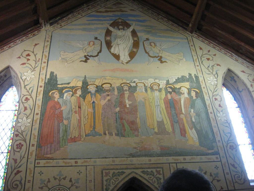 Mural, Interior, Anglican Church of the Ascension, Timoleague