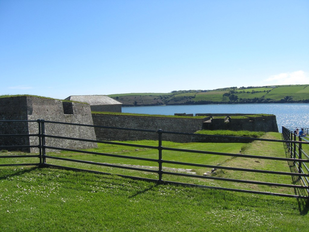 Exterior of Charlesfort, approaching from the north