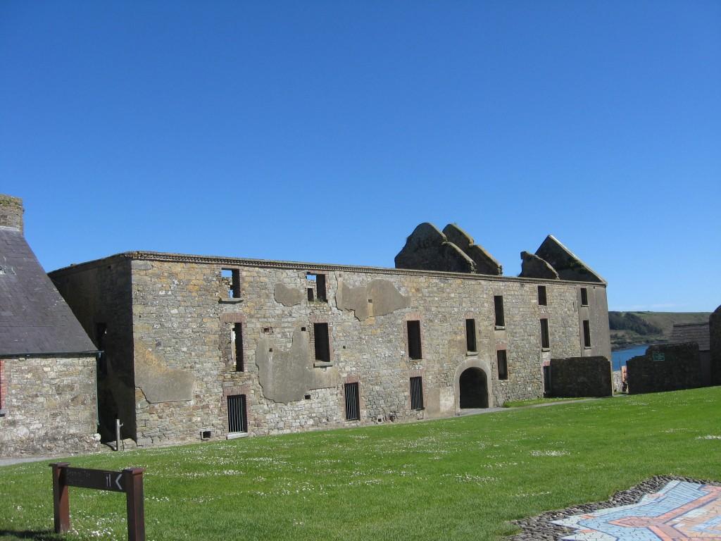 Barracks building, interior, Charlesfort