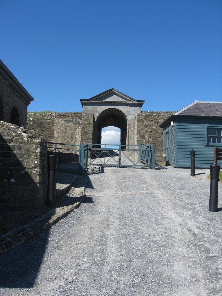 Main gate from inside Charlesfort