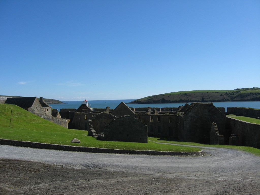 View over Kinsale inlet from the main yard, Charlesfort