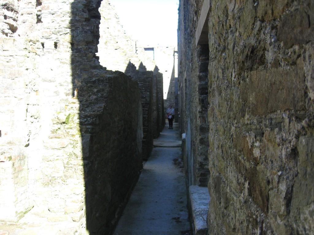 Barracks hallway, inside Charlesfort