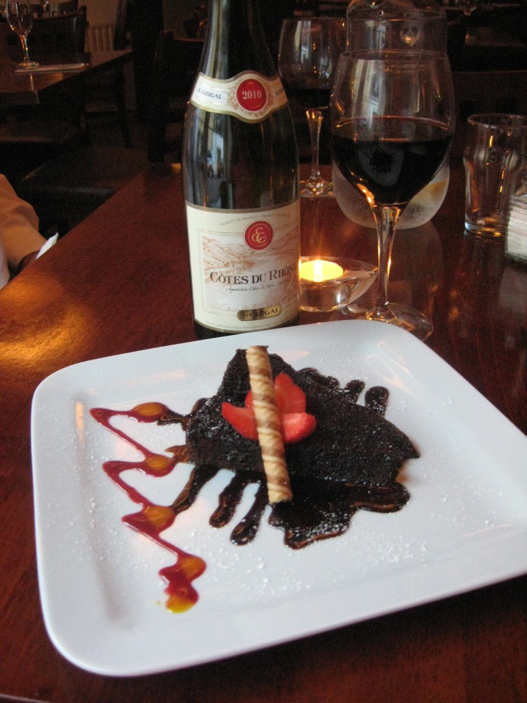 Wine and cake at the White Lady, Kinsale