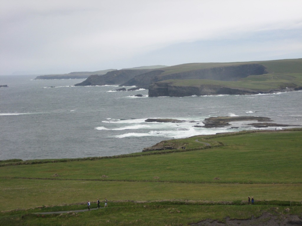 Clifftop view north, Kilkee, County Clare