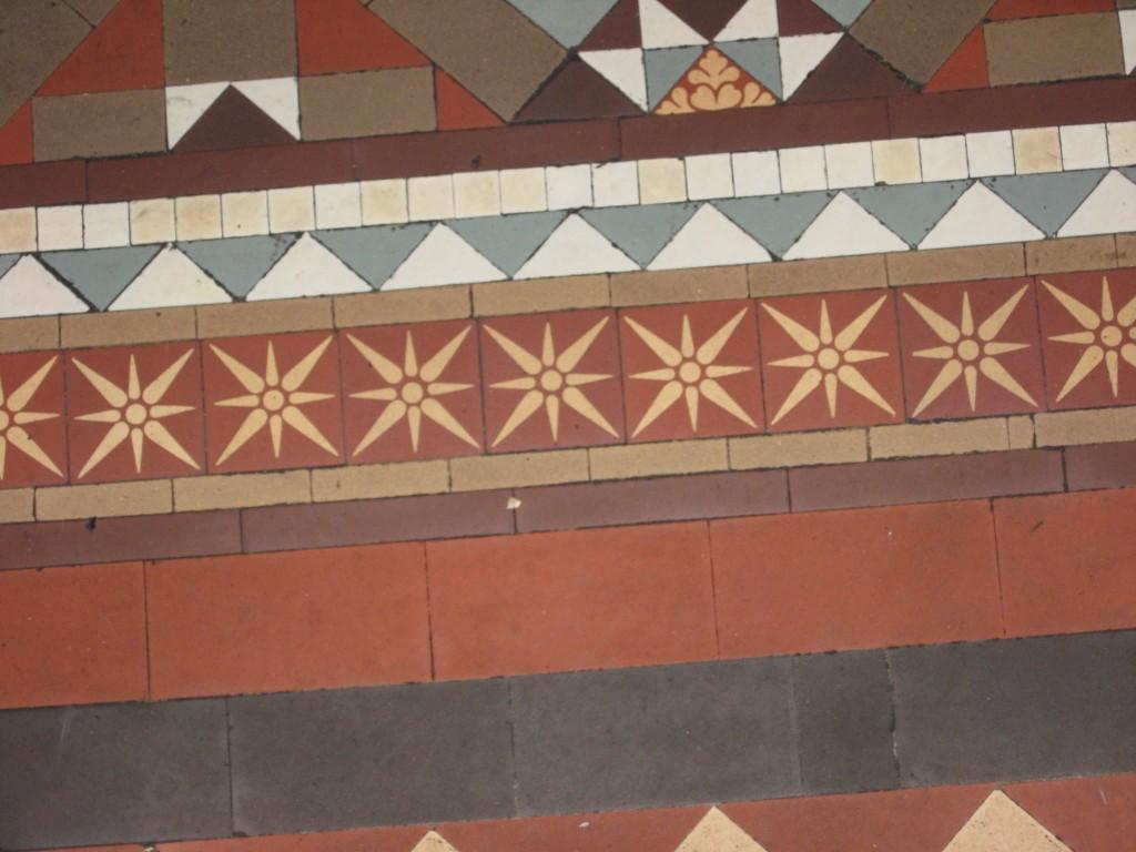 Floor tiles, Crotty's Pub, Kilrush, County Clare