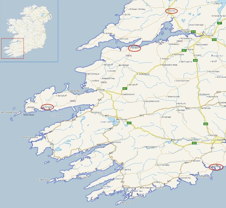 Day 5: Ennis, County Clare via Dingle, County Kerry to Kinsale, County Cork