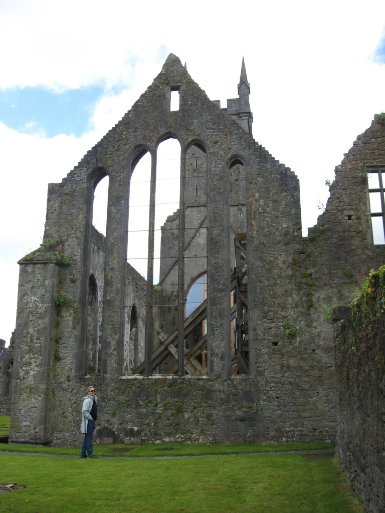 B for scale under east Chancery windows, Ennis Friary, County Clare