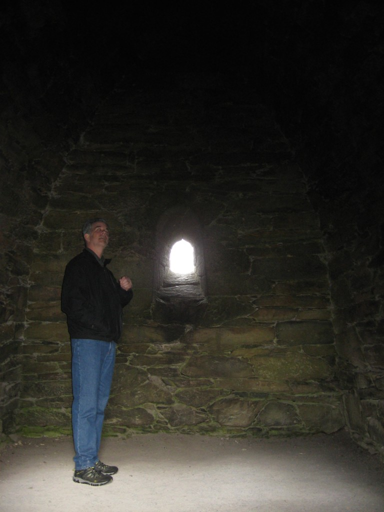 B inside the Gallarus Oratory, Dingle Peninsula, County Kerry