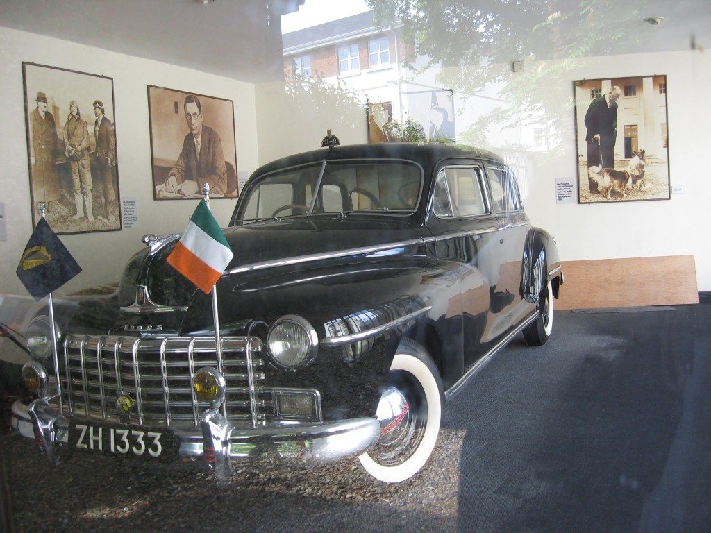 De Valera car behind the library, Ennis, County Clare