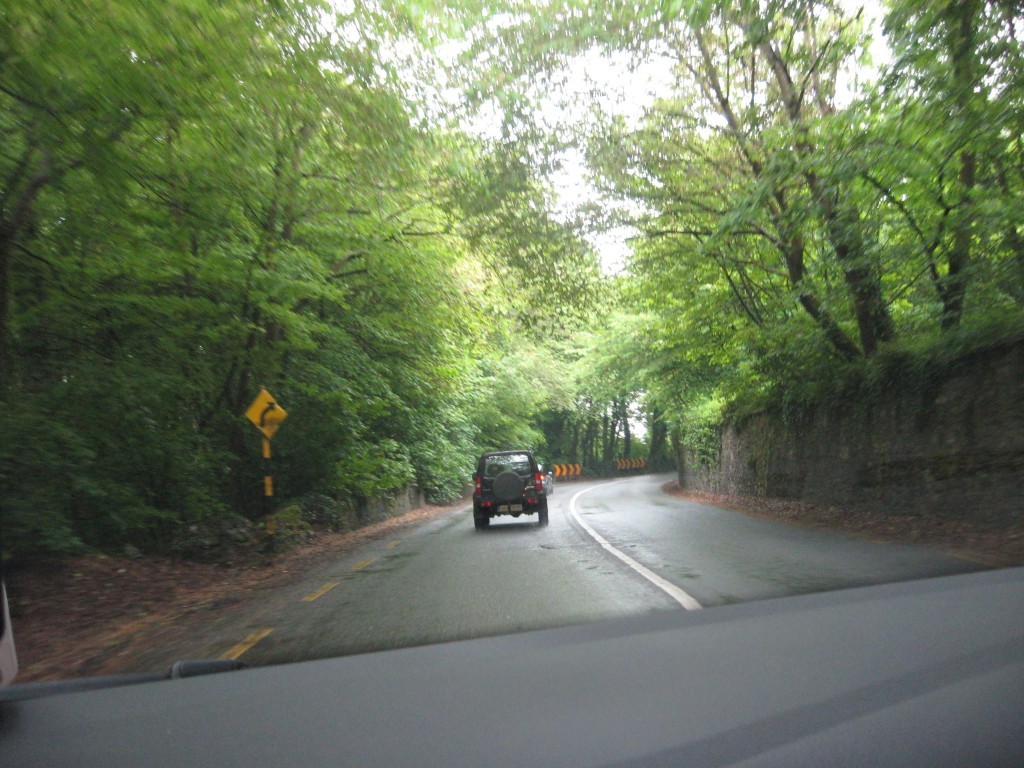 one of the wider roads....